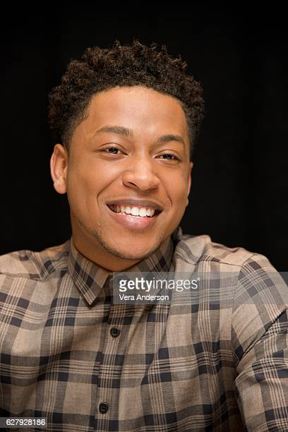 Jacob Latimore at the 'Collateral Beauty' Press Conference at the Crosby Street Hotel on December 3 2016 in New York City