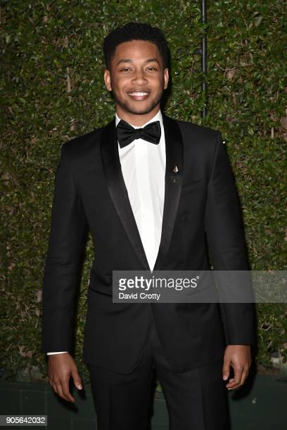 Jacob Latimore attends the 49th NAACP Image Awards Arrivals at Pasadena Civic Auditorium on January 15 2018 in Pasadena California