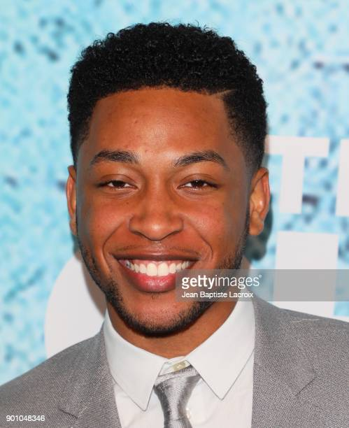 Jacob Latimore attends the premiere of Showtime's 'The Chi' on January 03 2018 in Los Angeles California