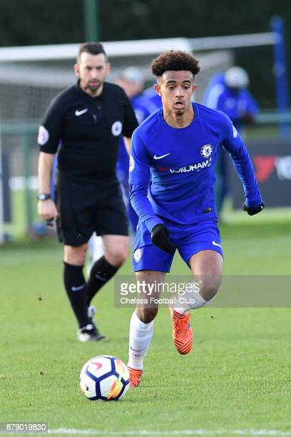 Jacob Maddox of Chelsea during the Chelsea v Liverpool Premier League 2 Match at Chelsea Training Ground on November 25 2017 in Cobham England