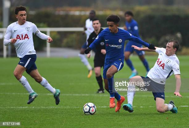 Jacob Maddox of Chelsea during the Premier league 2 match between Tottenham Hotspur and Chelsea on November 18 2017 in Enfield England