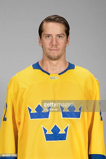 Jacob Markstrom of Team Sweden poses for his official World Cup of Hockey head shot at the Scandinavium on September 6 2016 in Gothenburg Sweden