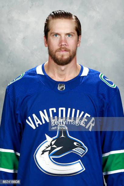 Jacob Markstrom of the Vancouver Canucks poses for his official headshot for the 20172018 season on September 12 2017 at Rogers Arena in Vancouver...