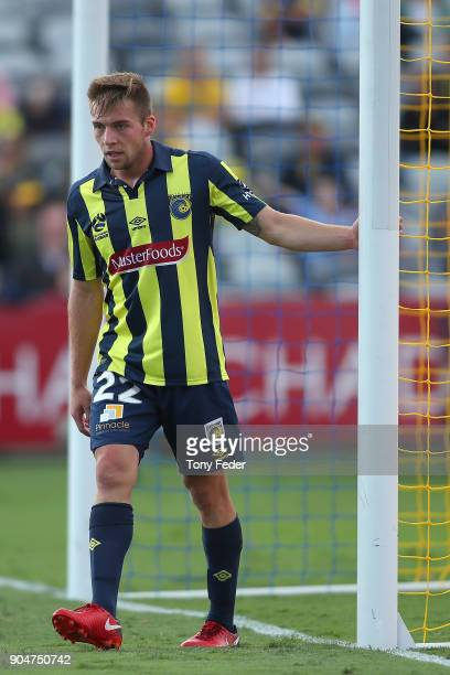 Jacob Melling of the Mariners during the round 16 ALeague match between the Central Coast Mariners and Melbourne City at Central Coast Stadium on...