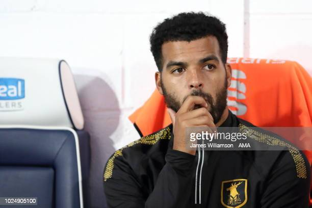 Jacob Mellis of Mansfield Town during the Carabao Cup Second Round match between West Bromwich Albion and Mansfield Town at The Hawthorns on August...