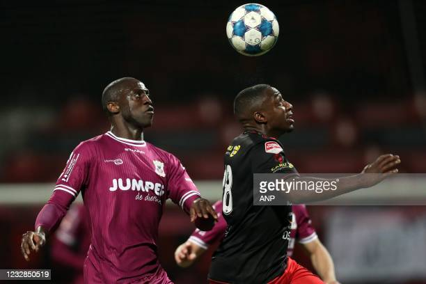 Jacob Mulenga of Go Ahead Eagles, Ahmad Mendes Moreira or sbv Excelsior during the Dutch Kitchen champion division match between Excelsior and Go...