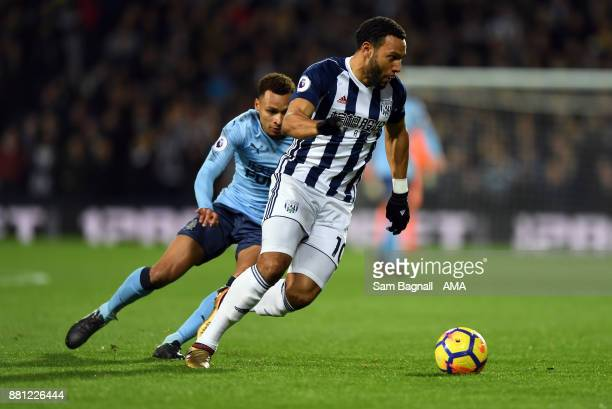 Jacob Murphy of Newcastle United and Matt Phillips of West Bromwich Albionduring the Premier League match between West Bromwich Albion and Newcastle...