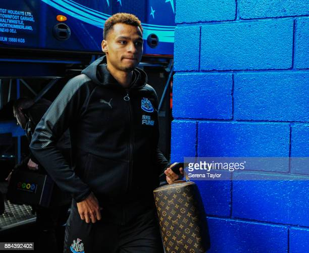 Jacob Murphy of Newcastle United arrives for the Premier League match between Chelsea and Newcastle United at Stamford Bridge on December 2 2017 in...