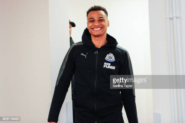 Jacob Murphy of Newcastle United arrives to the Vitality Stadium during the Premier League match between AFC Bournemouth and Newcastle United at...