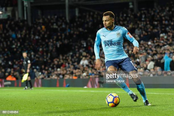Jacob Murphy of Newcastle United controls the ball during the Premier League match between West Bromwich Albion and Newcastle United at The Hawthorns...