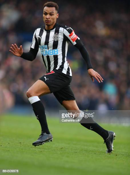 Jacob Murphy of Newcastle United during the Premier League match between Chelsea and Newcastle United at Stamford Bridge on December 2 2017 in London...