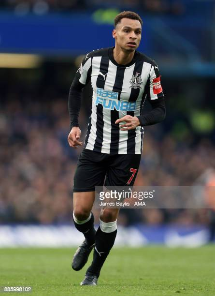 Jacob Murphy of Newcastle United' during the Premier League match between Chelsea and Newcastle United at Stamford Bridge on December 2 2017 in...