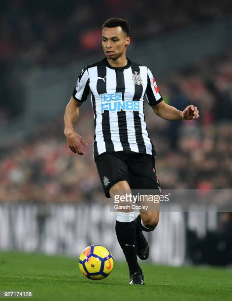 Jacob Murphy of Newcastle United during the Premier League match between Liverpool and Newcastle United at Anfield on March 3 2018 in Liverpool...
