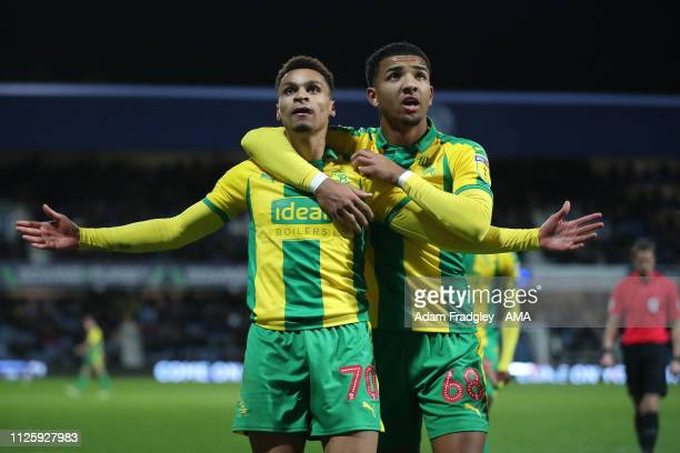 Jacob Murphy of West Bromwich Albion celebrates after scoring a goal to make it 12 during the Sky Bet Championship match between Queens Park Rangers...