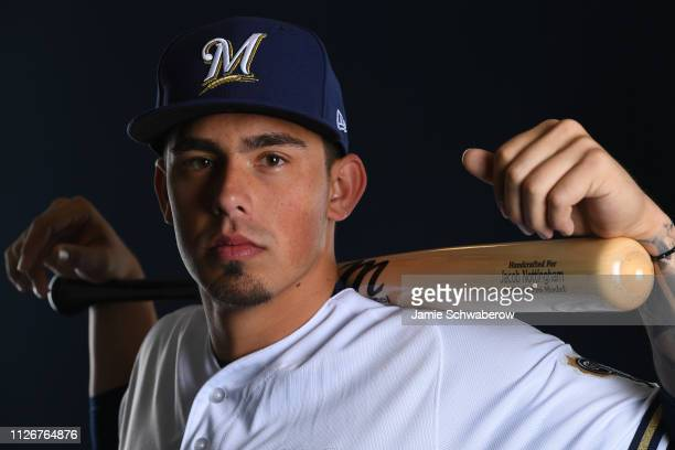 Jacob Nottingham of the Milwaukee Brewers poses during the Brewers Photo Day on February 22 2019 in Maryvale Arizona