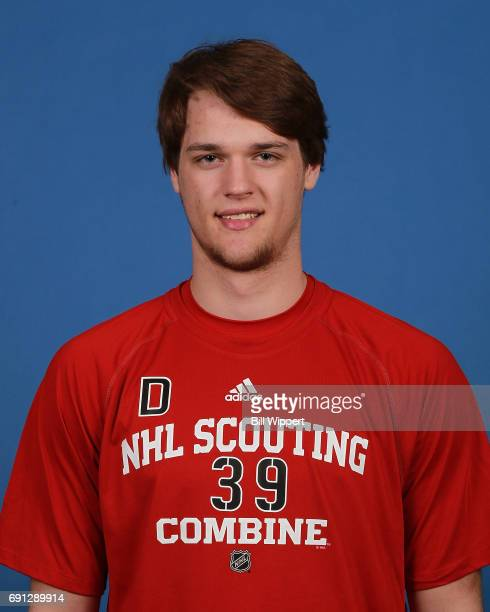 Jacob Paquette poses for a headshot at the NHL Combine at HarborCenter on June 1 2017 in Buffalo New York