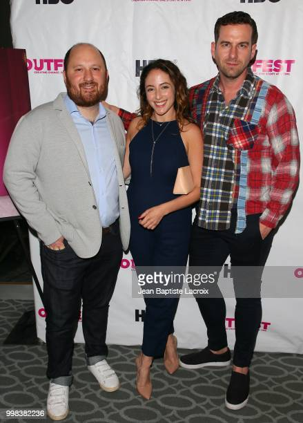 Jacob Perlin Nina Soriano and Rightor Doyle attend the 2018 Outfest Los Angeles screening of 'Bonding' at Harmony Gold on July 13 2018 in Los Angeles...