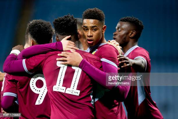 Jacob Ramsey of Aston Villa scores for Aston Villa during the FA Youth Cup match between Aston Villa and Swansea City at Villa Park on December 11,...