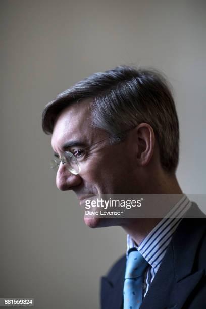 Jacob Rees Mogg British Conservative politician during the Cheltenham Literature Festival on October 14 2017 in Cheltenham England