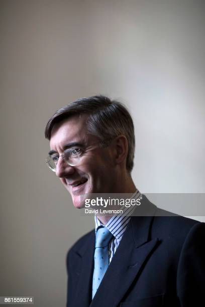 Jacob Rees Mogg British Conservative politician during the Cheltenham Literature Festival on October 14 2017 in Cheltenham England
