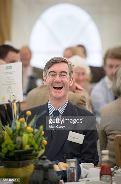 Jacob Rees Mogg MP for North East Somerset speaks at a CLA business breakfast in support of a vote to leave the European Union in the referendum on...