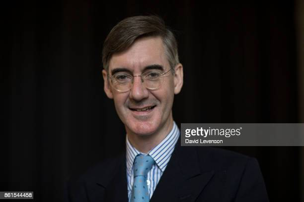 Jacob ReesMogg British Conservative politician during the Cheltenham Literature Festival on October 14 2017 in Cheltenham England