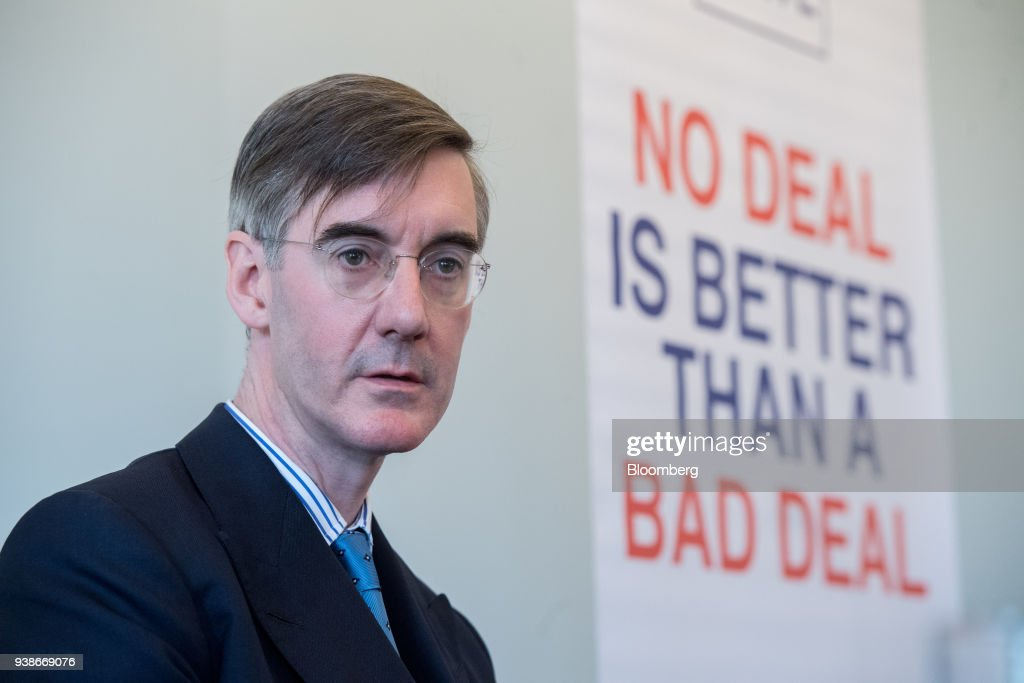 Anti-E.U. Tory Lawmaker Jacob Rees-Mogg Speaks At Brexit Event Hosted By Leave Means Leave