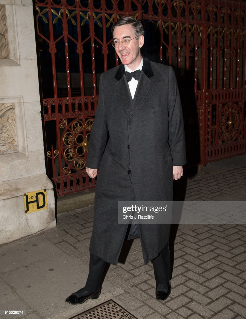 Guests Attend The Conservative Party's Fundraising Black And White Ball