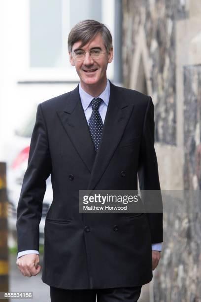 Jacob ReesMogg MP for North East Somerset seen following a talk called Faith in the Future at the Cornerstone Church on September 29 2017 in Cardiff...