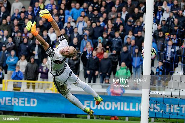 Jacob Rinne goalkeeper of KAA Gent pictured during Jupiler Pro League match between Club Brugge KV and KAA Gent on OCTOBER2 2016 in Brugge Belgium