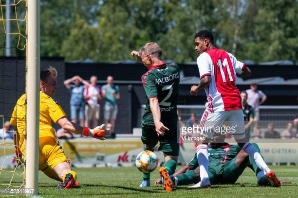 Jacob Rinne of Aalborg BK, Patrick Kristensen of Aalborg BK, Danilo Pereia da Silva of Ajax, Jores Okore of Aalborg BK during the pre-season friendly...