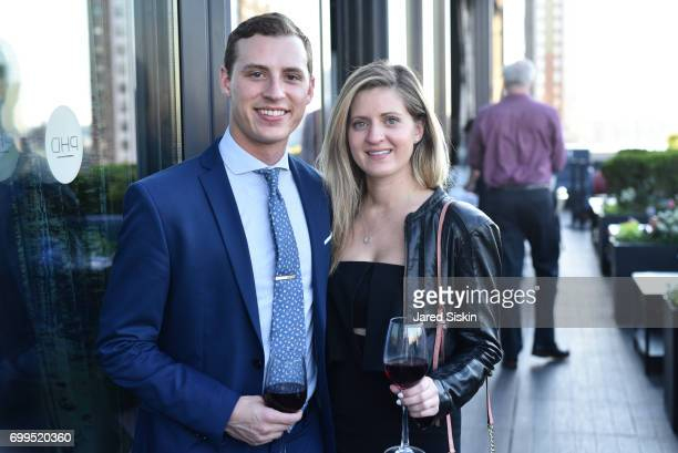 Jacob Rollmann and Christina KalsowRamos attend The Junior Board of The TEAK Fellowship Presents A Midsummer Night at PhD Lounge at the Dream...