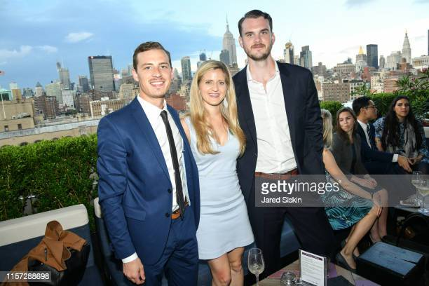 Jacob Rollmann Christina Kalsow Ramos and Isaac Cohen attend TEAK Fellowship A Midsummer Night at PhD Lounge at the Dream Downtown New York on June...