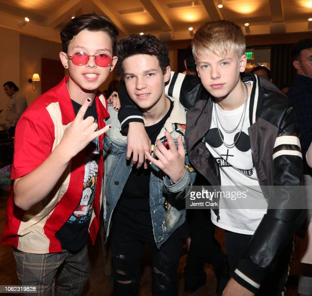 Jacob Sartorius Hayden Summerall and Carson Lueders attend TigerBeat And Instagram's 3rd Annual 19Under19 Celebration at Farmhouse LA on November 01...