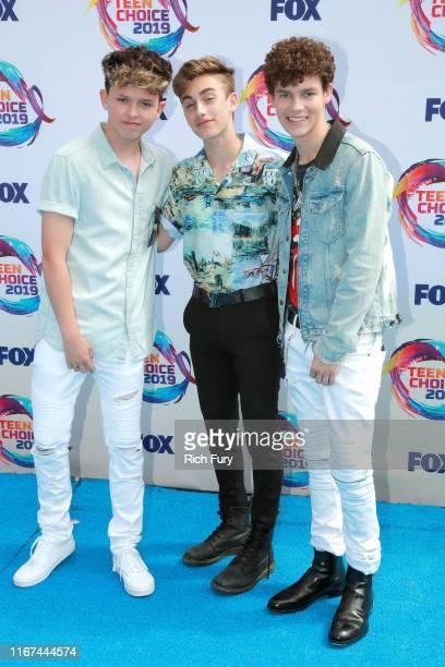 Jacob Sartorius, Johnny Orlando and Hayden Summerall attend FOX's Teen Choice Awards 2019 on August 11, 2019 in Hermosa Beach, California.