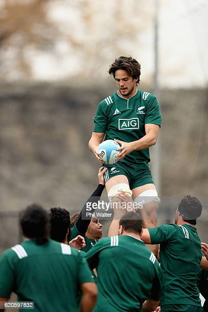 Jacob Skeen of the New Zealand Maori All Blacks trains at Toyota Park on November 2 2016 in Bridgeview Illinois