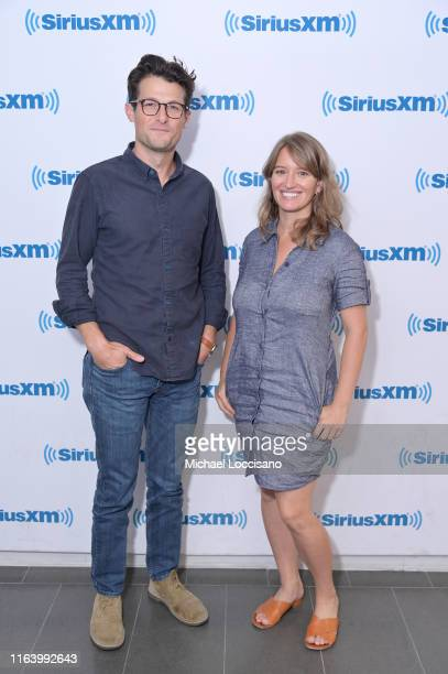 Jacob Soboroff and Katy Tur visit SiriusXM Studios on July 24 2019 in New York City