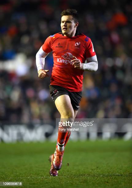 Jacob Stockdale of Ulster Rugby during the Champions Cup match between Leicester Tigers and Ulster Rugby at Welford Road Stadium on January 19, 2019...
