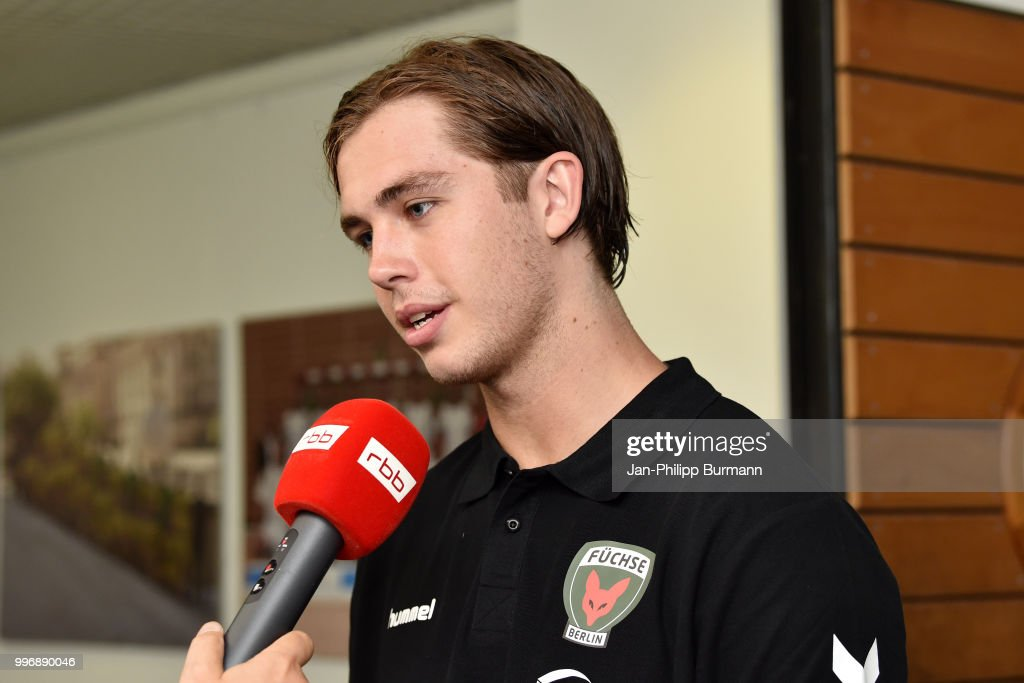 Jacob Tandrup Holm during the media talk at Fuechse-Town on july 11, 2018 in Berlin, Germany.