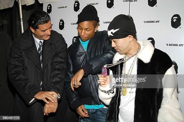 Jacob 'The Jeweler' Arabo Pharrell Williams and Nigo attend Pharrell Williams Hosts the Store Opening of Nigo's 'A Bathing Ape' at A Bathing Ape...