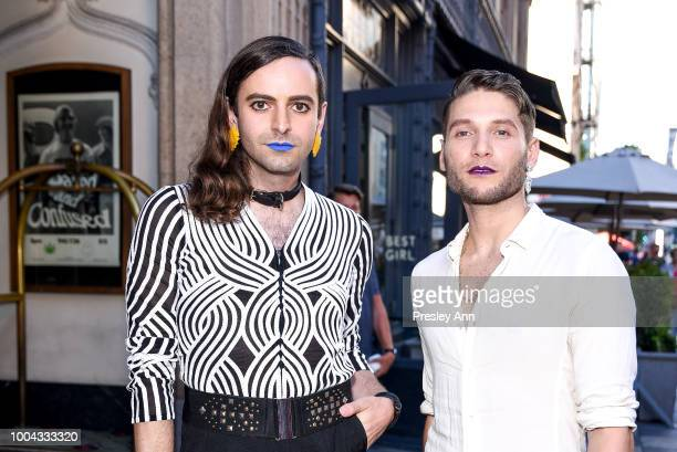 Jacob Tobia and guest attends 2018 Outfest Los Angeles LGBT Film Festival Closing Night Gala Of The Miseducation Of Cameron Post Red Carpet at The...