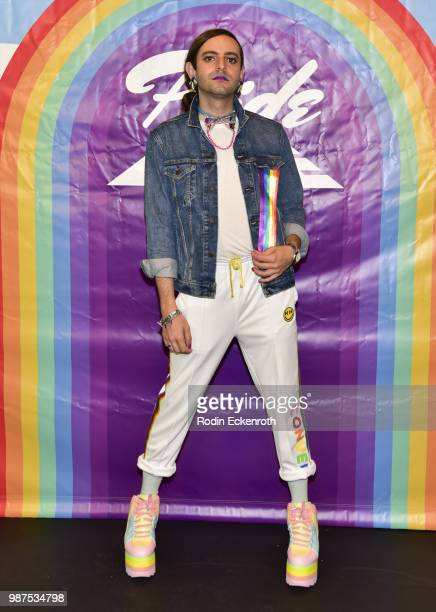 Jacob Tobia arrives at Live Telethon with threehour variety show Pride Live on GLAAD YouTube at YouTube Space LA on June 29 2018 in Los Angeles...