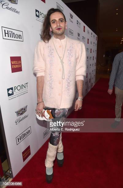 Jacob Tobia arrives at Point Foundation's Point Honors gala at The Beverly Hilton Hotel on October 13 2018 in Beverly Hills California