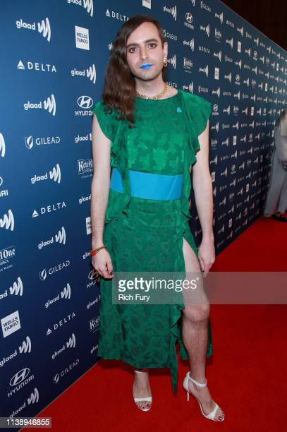 Jacob Tobia attends the 30th Annual GLAAD Media Awards Los Angeles at The Beverly Hilton Hotel on March 28 2019 in Beverly Hills California