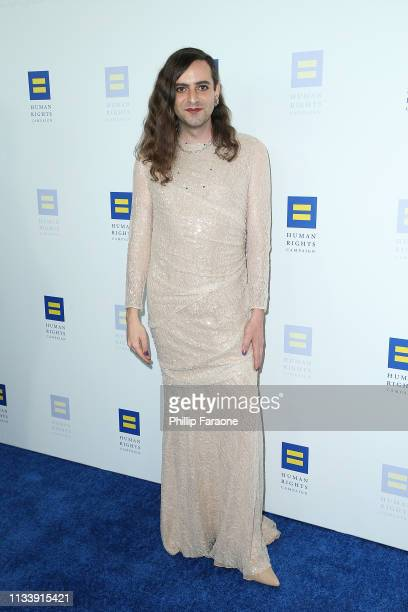 Jacob Tobia attends The Human Rights Campaign 2019 Los Angeles Dinner at JW Marriott Los Angeles at LA LIVE on March 30 2019 in Los Angeles California
