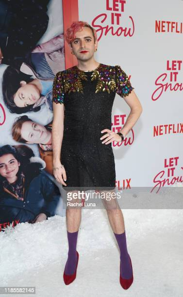 """Jacob Tobia attends the LA Premiere of Netflix's """"Let It Snow"""" at Pacific Theatres at The Grove on November 04, 2019 in Los Angeles, California."""