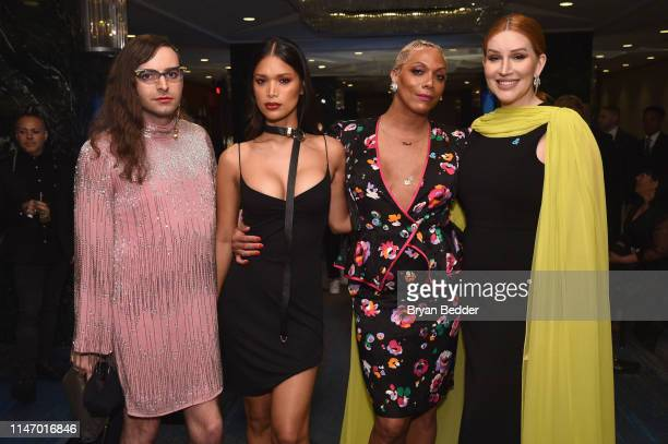 Jacob Tobia Geena Rocero and Our Lady attend the 30th Annual GLAAD Media Awards New York at New York Hilton Midtown on May 04 2019 in New York City