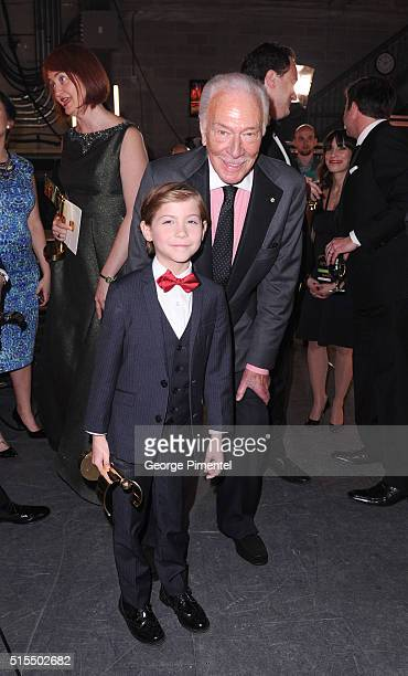 Jacob Tremblay and Christopher Plummer poses backstage at the 2016 Canadian Screen Awards at the Sony Centre for the Performing Arts on March 13 2016...
