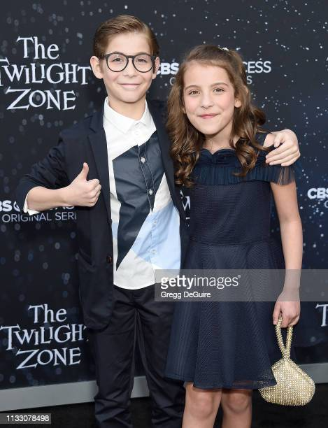 Jacob Tremblay and Erica Tremblay arrive at the CBS All Access New Series The Twilight Zone Premiere at the Harmony Gold Preview House and Theater on...