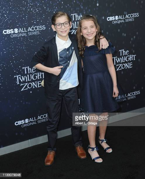 Jacob Tremblay and Erica Tremblay arrives for the CBS All Access New Series The Twilight Zone Premiere held at the Harmony Gold Preview House and...